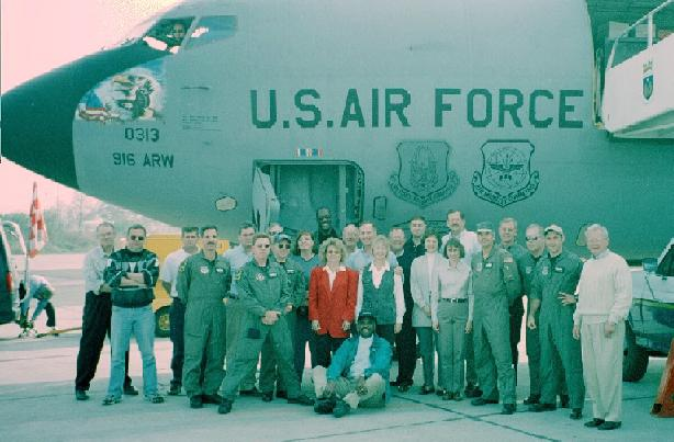 Students, faculty and supporting air crew for the trip.