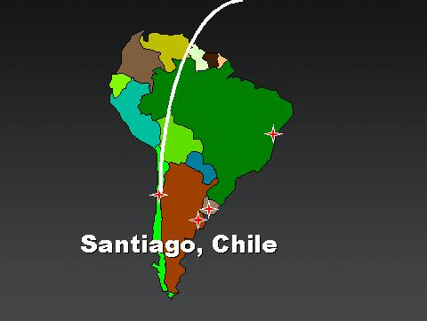 From Andrews AFB to Santiago, Chile