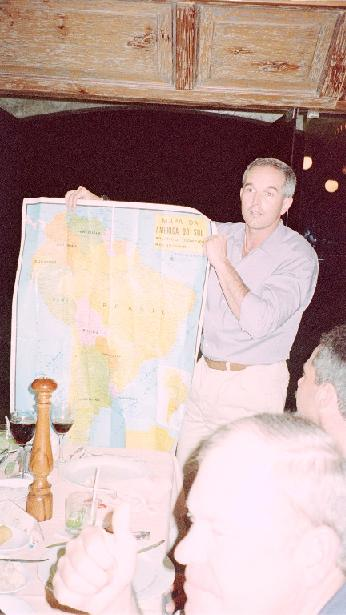 Pilot-in-command presents map to seminar, just in case they didn't know where they had been.