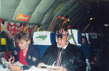 Teresa & Rod trying to read on Mil Air
