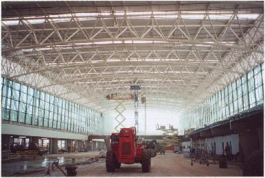 View of Airport Terminal expansion project in Santiago